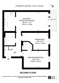 Large floorplan for Metro Apartments, Woking, GU21