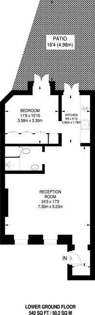 Large floorplan for Conway Street, Fitzrovia, W1T