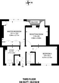 Large floorplan for Tulse Hill, Brixton, SW2
