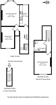 Large floorplan for Springwell Avenue, Harlesden, NW10