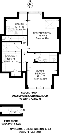 Large floorplan for Avenue Road, Highgate, N6