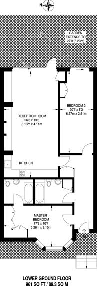 Large floorplan for Aberdeen Road, Highbury and Islington, N5