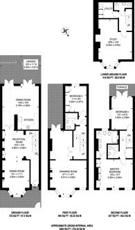 Large floorplan for Uverdale Road, Lots Road, SW10