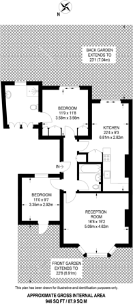 Large floorplan for Moore Park Road, Moore Park Estate, SW6