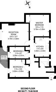 Large floorplan for Grand Drive, Raynes Park, SW20