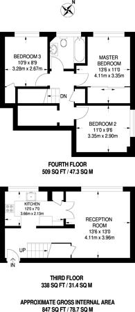 Large floorplan for Secrett House, Ham, TW10
