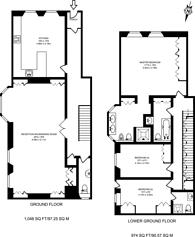 Large floorplan for Cumberland Mansions, Marylebone, W1H