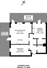 Large floorplan for Bessemer Place, North Greenwich, SE10