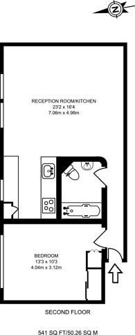 Large floorplan for Odhams Walk, Covent Garden, WC2H