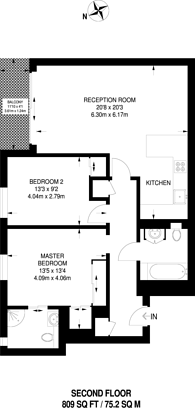 Large floorplan for Felsham Road, West Putney, SW15
