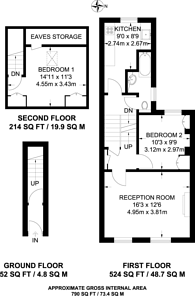 Large floorplan for Haydons Road, Wimbledon, SW19