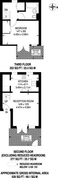 Large floorplan for George Mews, Euston, NW1