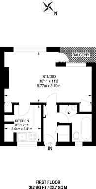 Large floorplan for St Marychurch Street, Rotherhithe, SE16