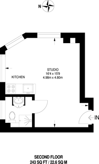 Large floorplan for Rotherhithe New Road, Bermondsey, SE16