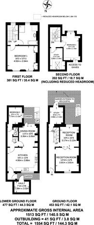 Large floorplan for Bewdley Street, Barnsbury, N1