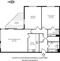 Large floorplan for Wingfield Court, Docklands, E14