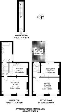 Large floorplan for Portobello Road, Notting Hill Gate, W11