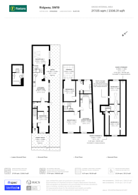 Large floorplan for Ridgway, Wimbledon Village, SW19