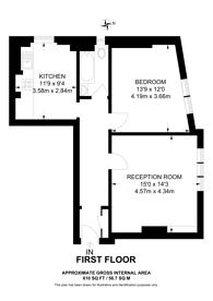 Large floorplan for Waldemar Avenue, Bishop's Park, SW6
