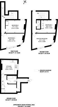 Large floorplan for Fulham Road, Bishop's Park, SW6