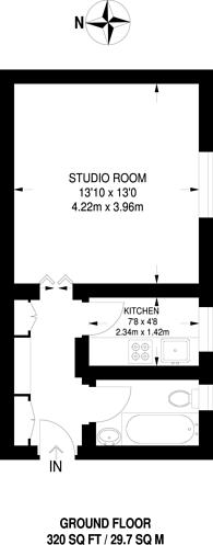 Large floorplan for Inner Park Road, Southfields, SW19