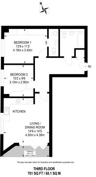 Large floorplan for St Albans Place, Islington, N1