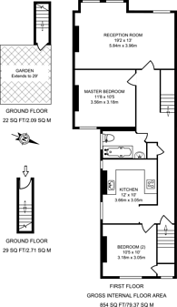 Large floorplan for Princes Avenue, Muswell Hill, N22