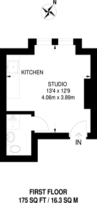 Large floorplan for Rostella Road, Tooting, SW17