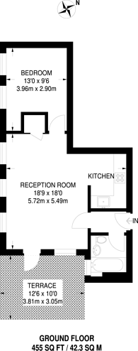 Large floorplan for College Terrace, Bow, E3