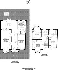 Large floorplan for Corringham Road, Wembley, HA9