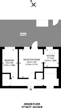 Large floorplan for Tessa Sanderson Place, Diamond Conservation Area, SW8