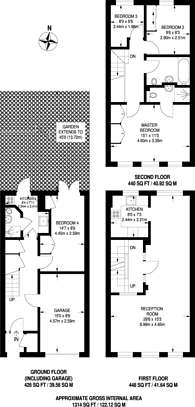 Large floorplan for Chester Road, Northwood, HA6