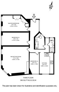 Large floorplan for Kings Road, Chelsea, SW3