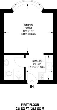 Large floorplan for Baron Street, Angel, N1