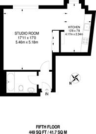 Large floorplan for New Compton Street, Covent Garden, WC2H