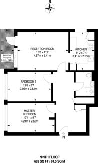 Large floorplan for Giraud Street, Poplar, E14