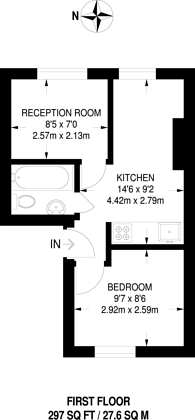 Large floorplan for Old Kent Road, Bermondsey, SE1