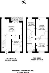 Large floorplan for Slippers Place, Bermondsey, SE16