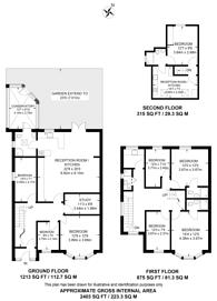 Large floorplan for Malden Way, New Malden, KT3