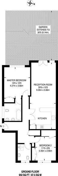Large floorplan for Cranley Road, Guildford, GU1
