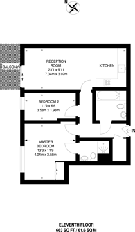 Large floorplan for City Peninsula, Greenwich, SE10