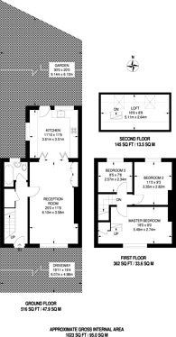 Large floorplan for Lincombe Road, Bromley, BR1
