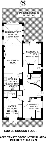Large floorplan for Priory Terrace, South Hampstead, NW6