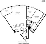 Large floorplan for St George Wharf, Nine Elms, SW8