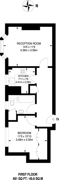 Large floorplan for Armoury Way, Wandsworth, SW18