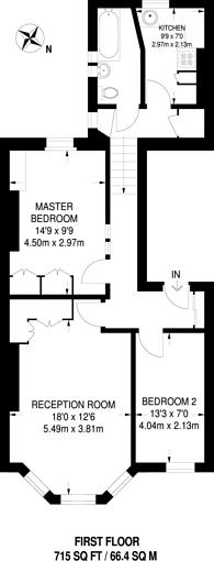 Large floorplan for Warwick Road, Earls Court, SW5