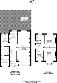 Large floorplan for Angel Hill, Sutton Common, SM1