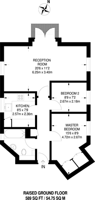 Large floorplan for East Hill, East Hill, SW18