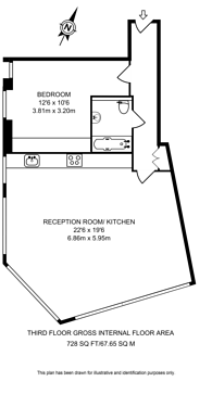 Large floorplan for Rufus Street, Shoreditch, N1