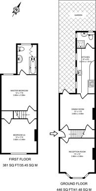 Large floorplan for High Path Road, Merrow, GU1